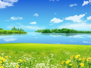 ws_Summer_Meadow_Lake_&_Sky_1152x864